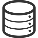 data storage icon for file management in your eportfolio category