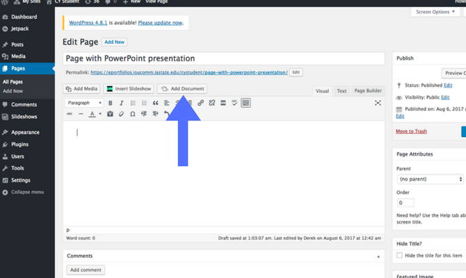 Adding PowerPoint step 2 screenshot