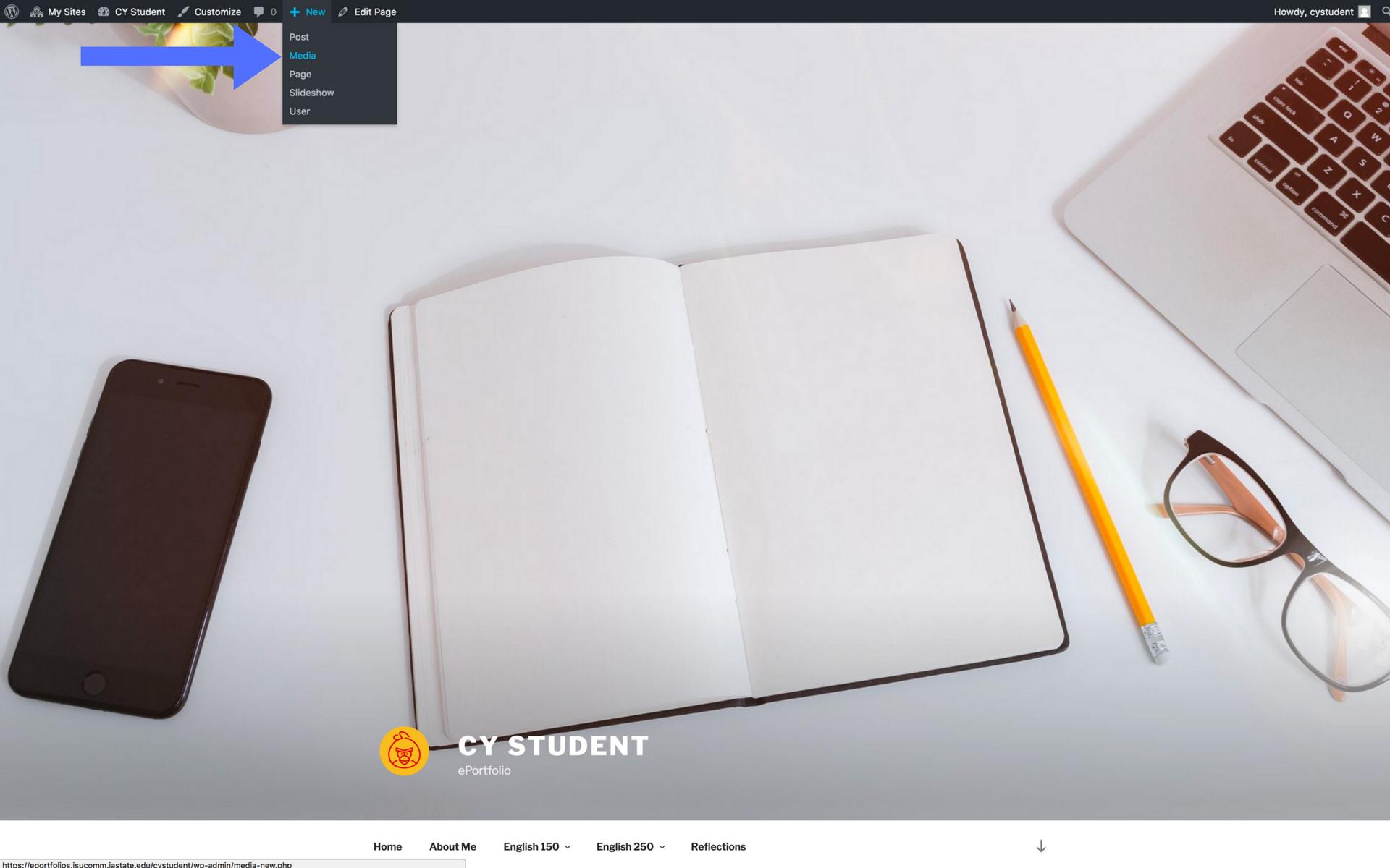 Adding images screenshot step 1
