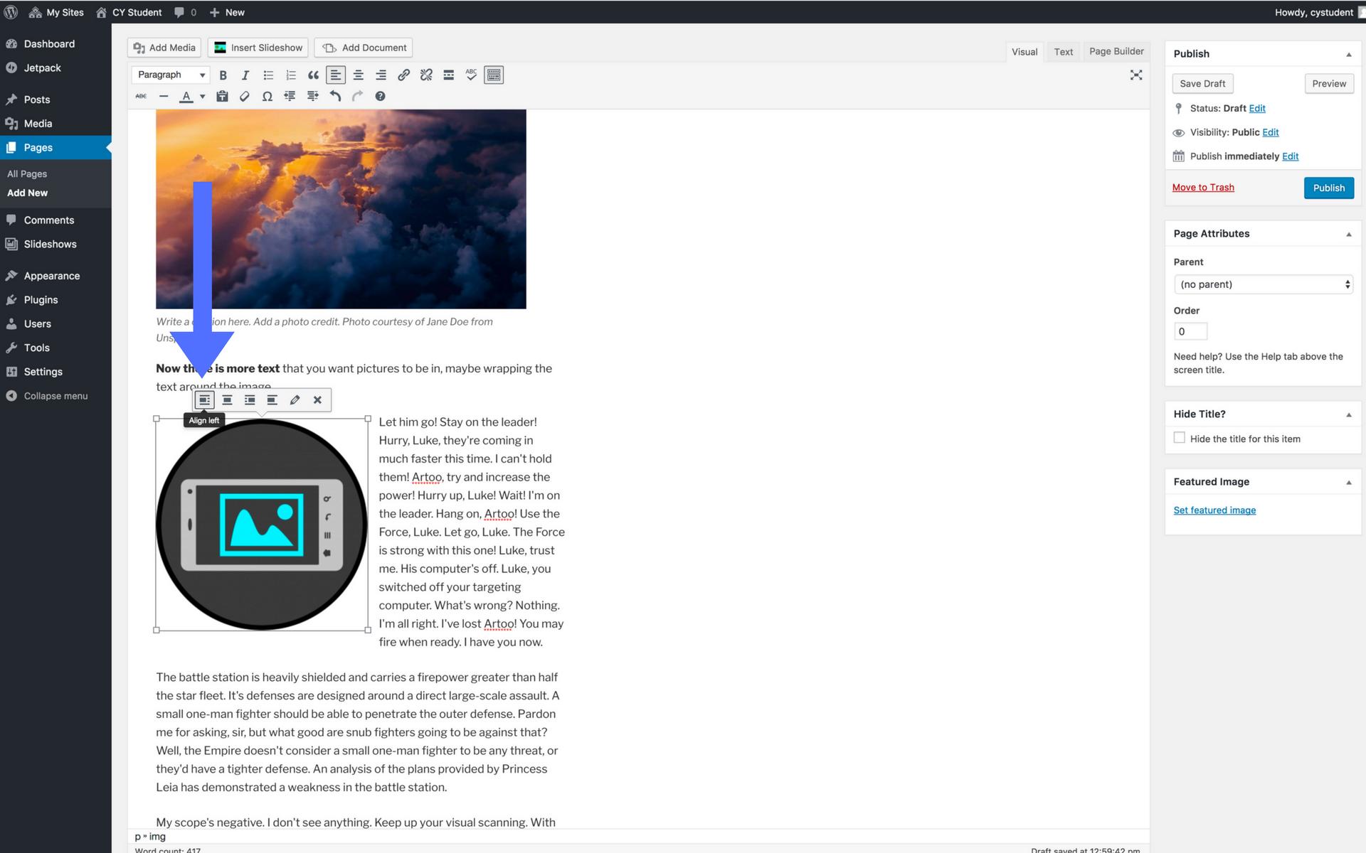 Adding images screenshot step 10