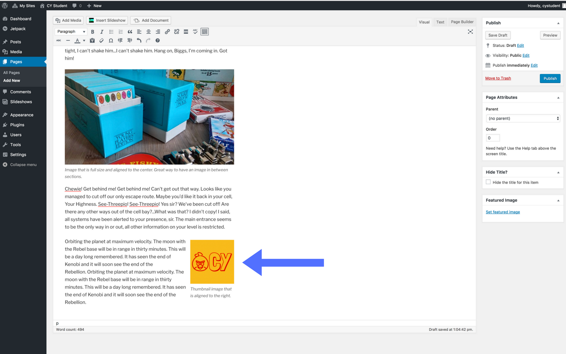 Adding images screenshot step 12