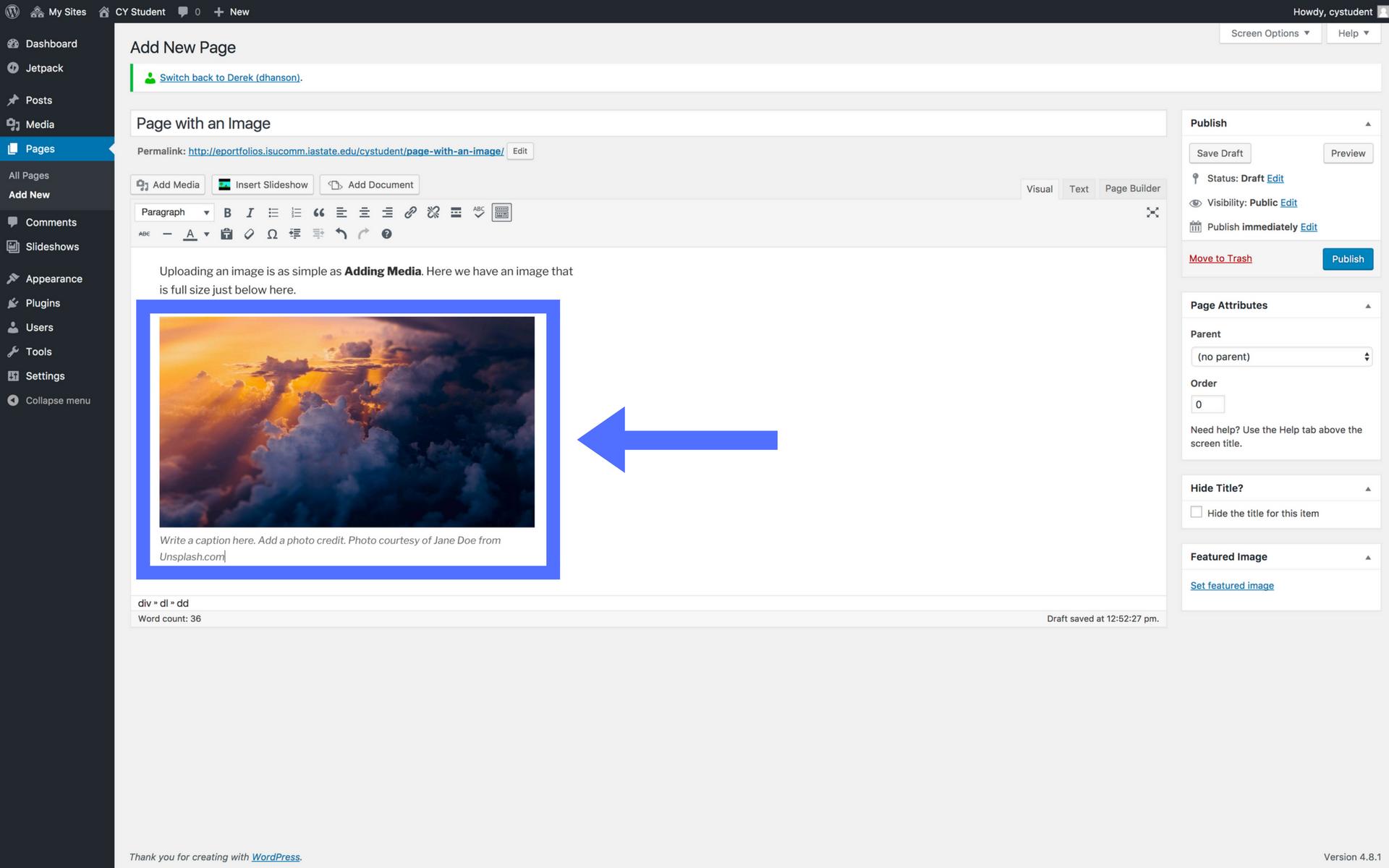 Adding images screenshot step 7