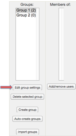 "Screenshot 7: The ""Edit group settings"" button is located right below the groups box."