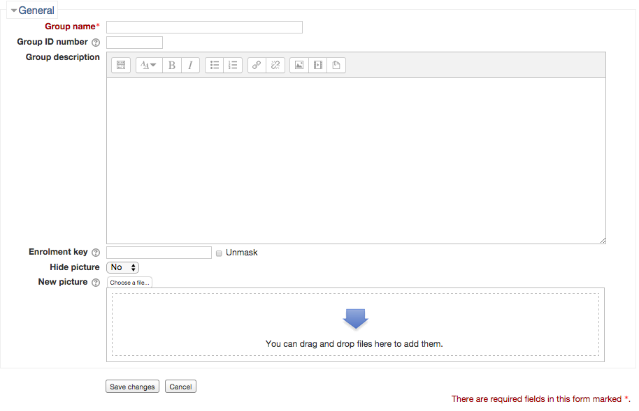 Screenshot 4: The next page will show you editing text fields for your group information.