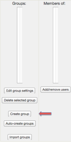 "Screenshot 3: The ""Create group"" button is located just above the auto-create groups button."