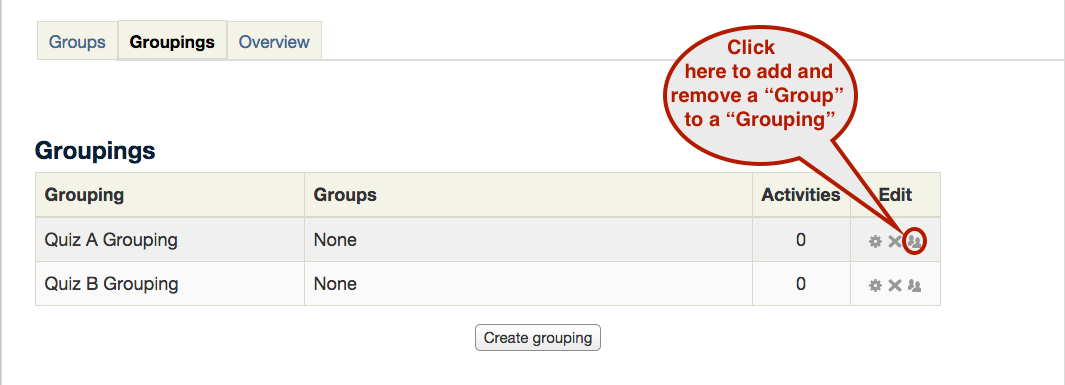 Groups and groupings screenshot 4