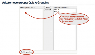 Groups and groupings screenshot 5