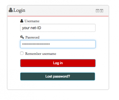Moodle login screenshot 1