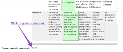 clickable grading rubric screenshot 8